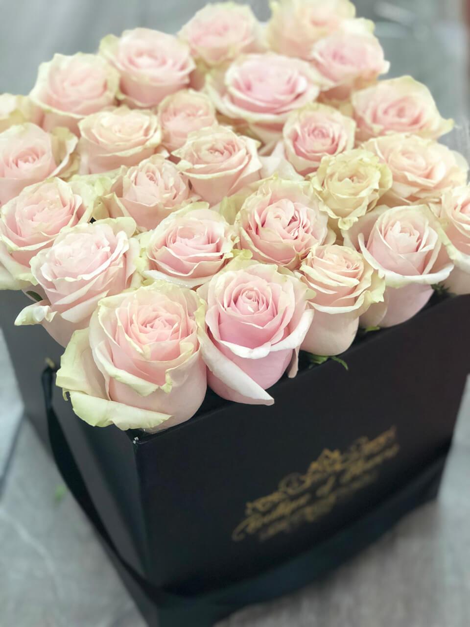 Mundial  rose medium  black  square box